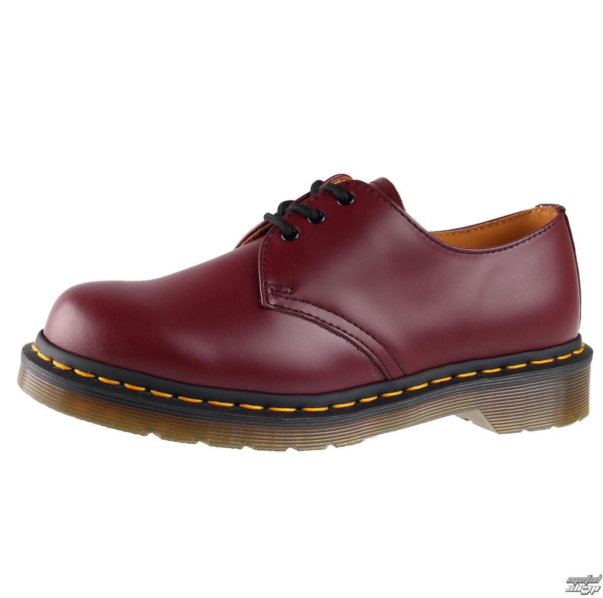 boty Dr. Martens - 3 dírkové - DM 1461 59 - CHERRY RED SMOOTH - DM10085600