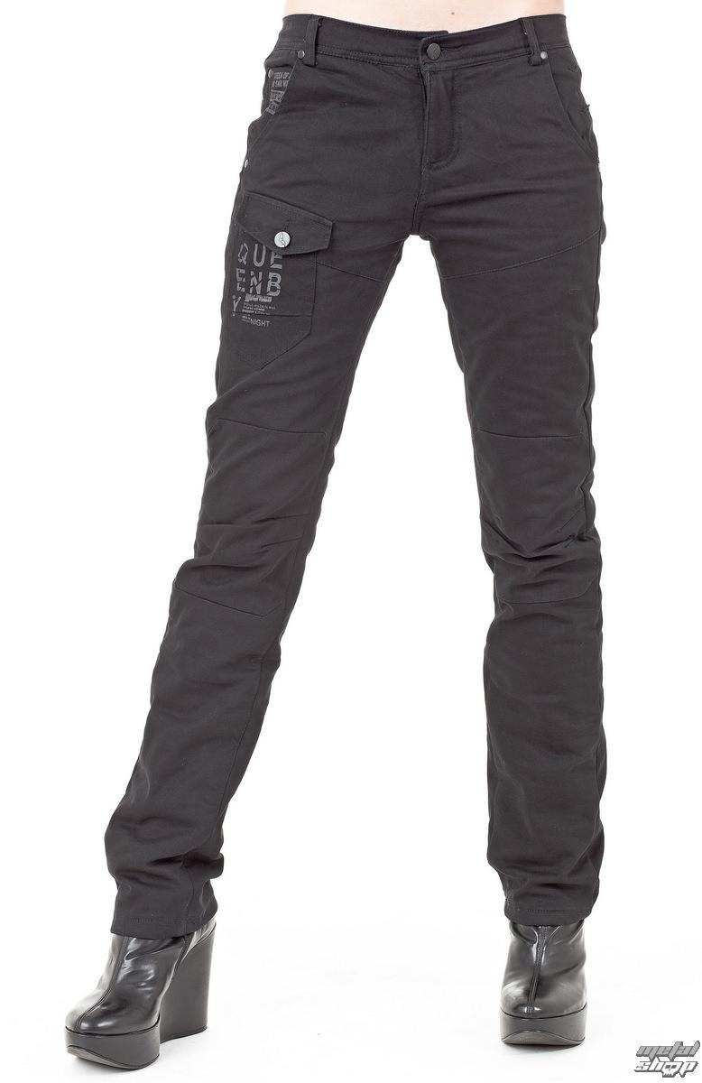 kalhoty dámské (zimní) QUEEN OF DARKNESS - Black - TR1-245/12