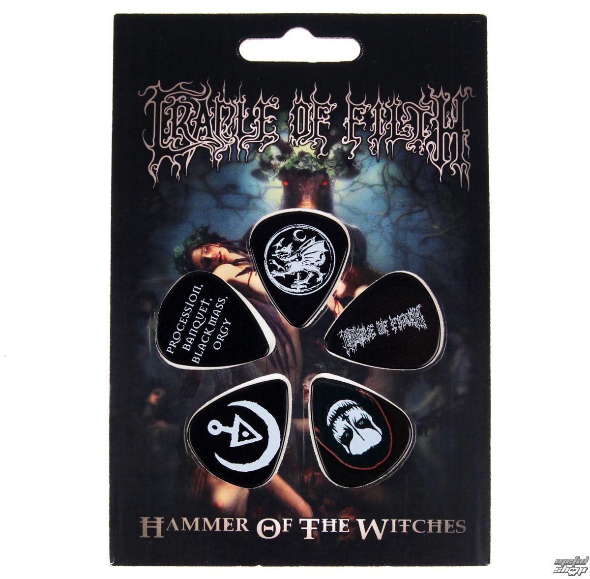 trsátka Cradle of Filth - HAMMER OF THE WITCHES - RAZAMATAZ - PPCOF1