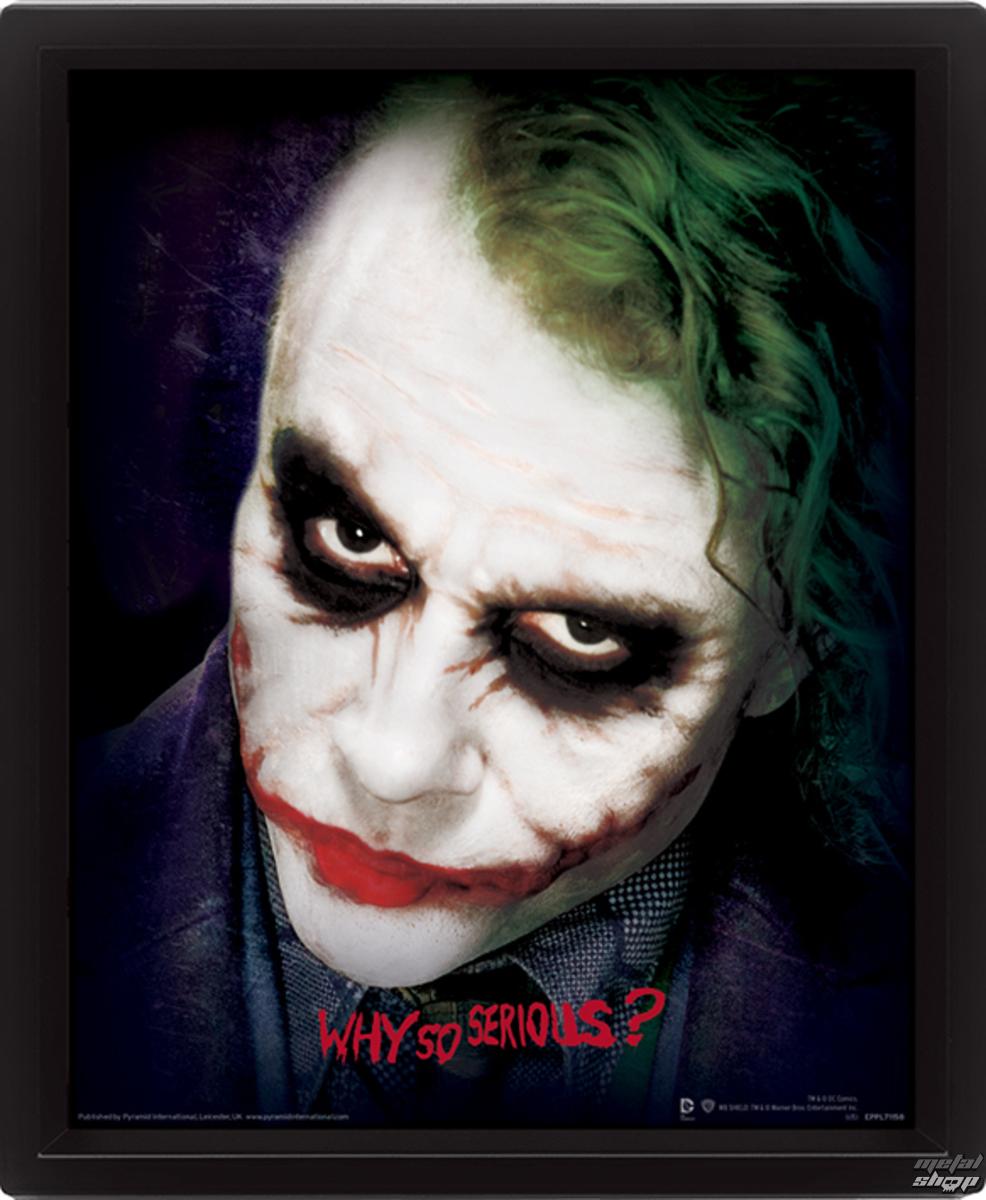 3D obraz - Batman - Joker Face - The Dark Knight - Why So Serious? - EPPL71158