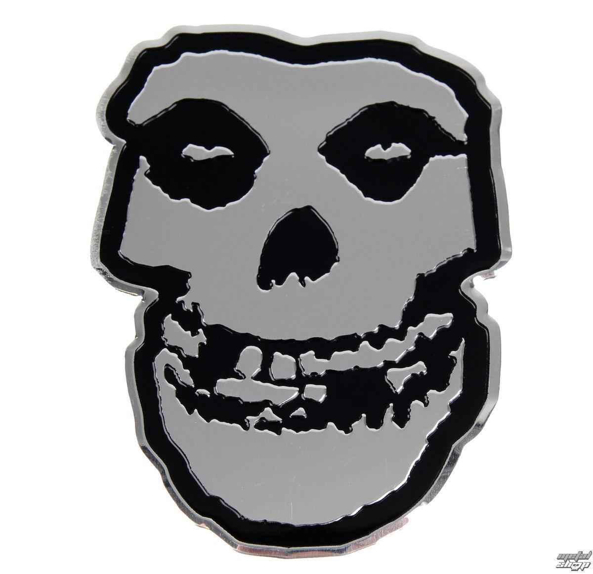 nálepka malá (kovová) Misfits - Skull - S-7768-M