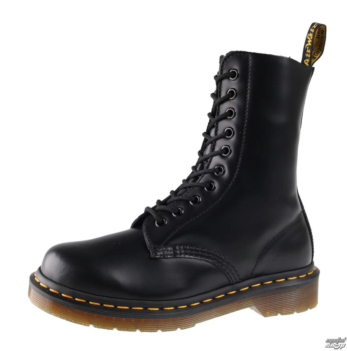 boty DR. MARTENS - 10 dírkové - DM 1490 BLACK SMOOTH - DM11857001