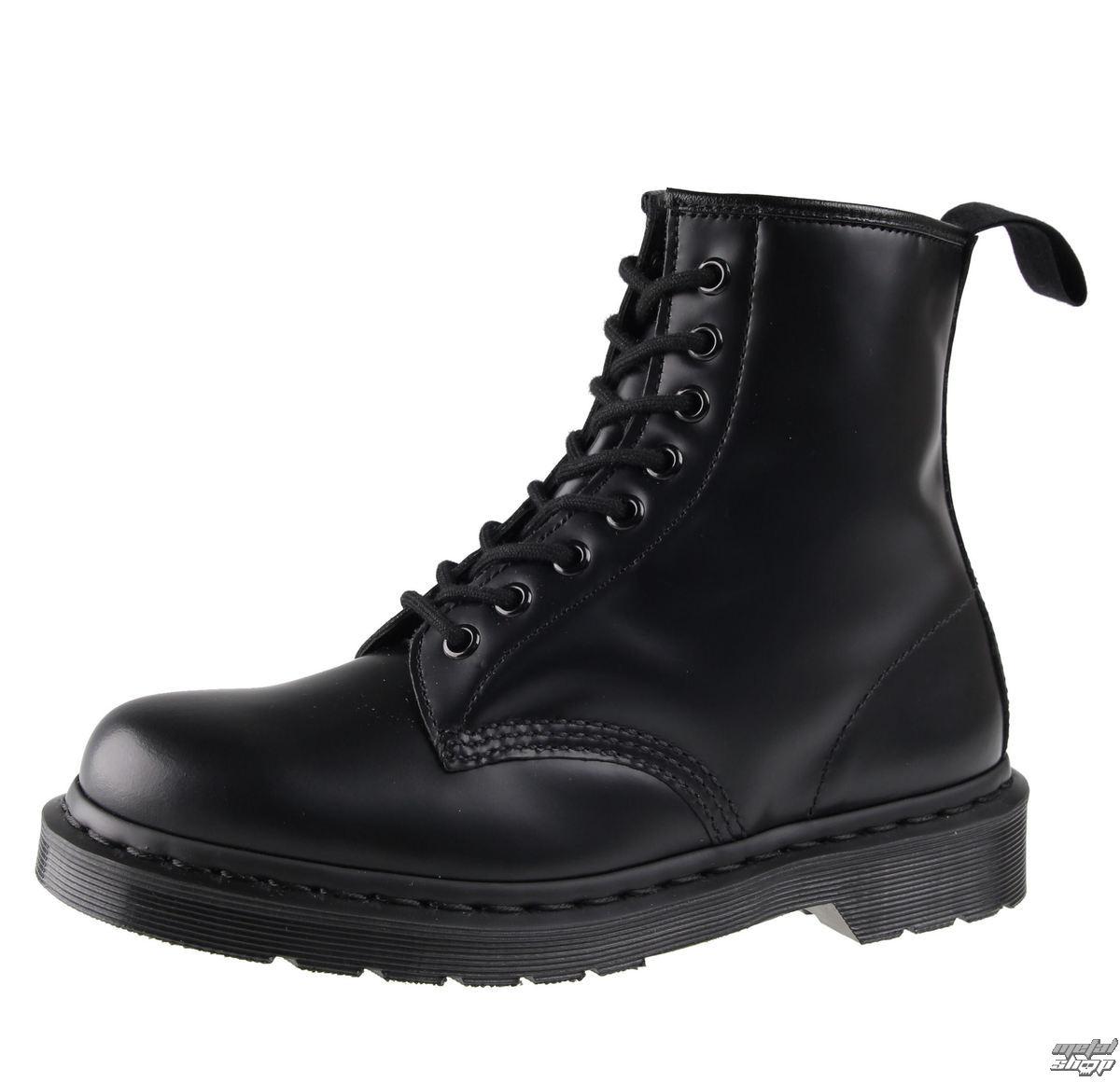 boty Dr. Martens 8 dírkové - DM 1460 MONO BLACK SMOOTH - DM14353001