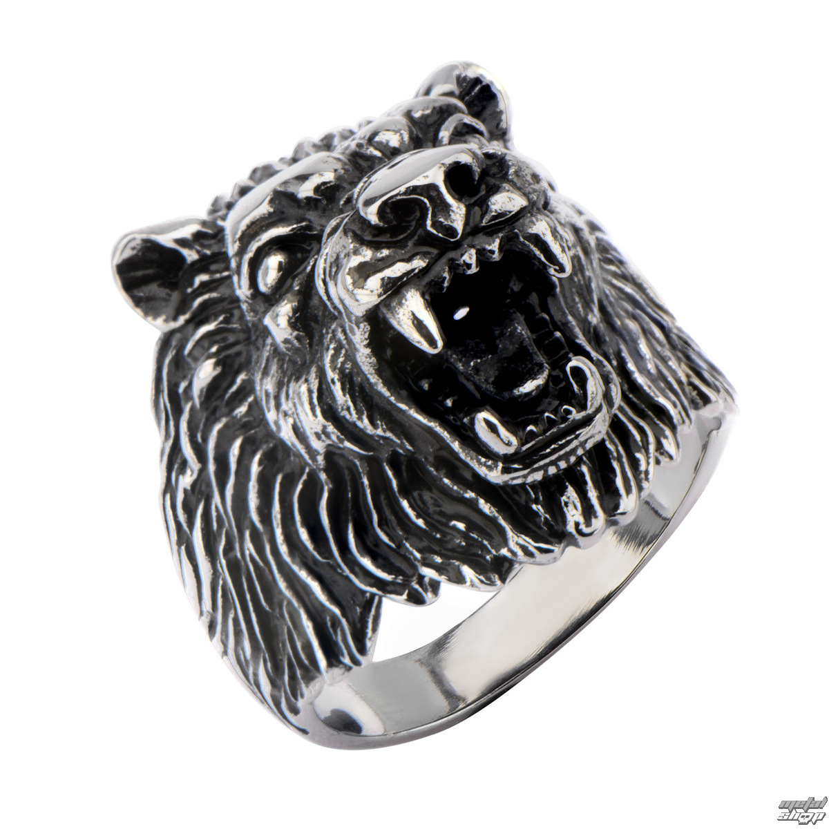 prsten INOX - BIG WOLF BLACK