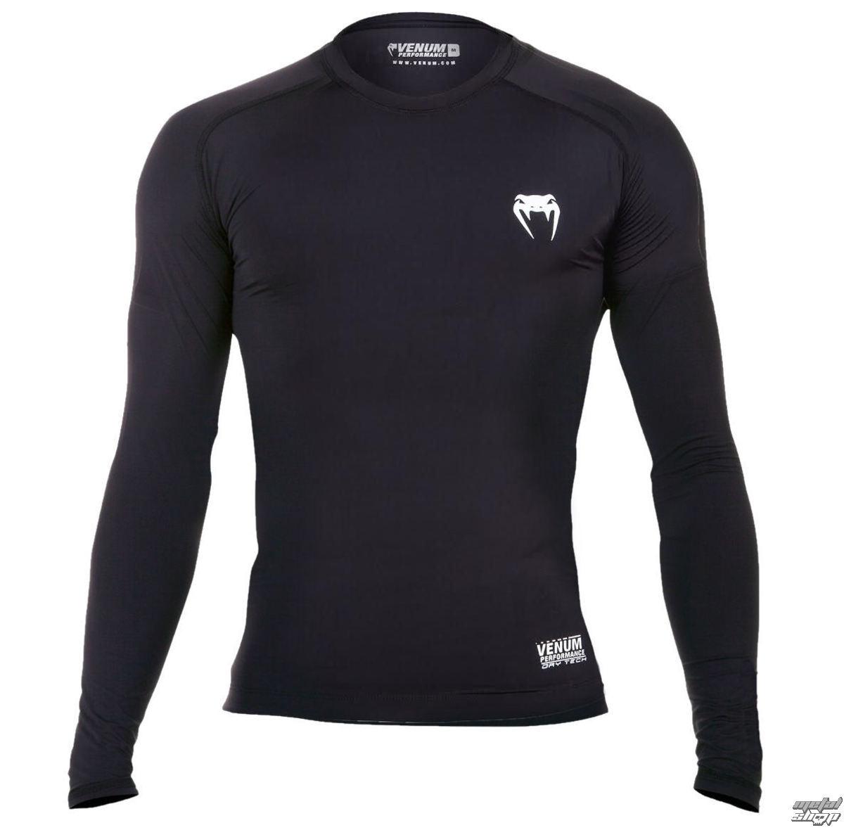 tričko pánské s dlouhým rukávem (termo) VENUM - Contender 2.0 Compression - Black/Ice - EU-VENUM-132
