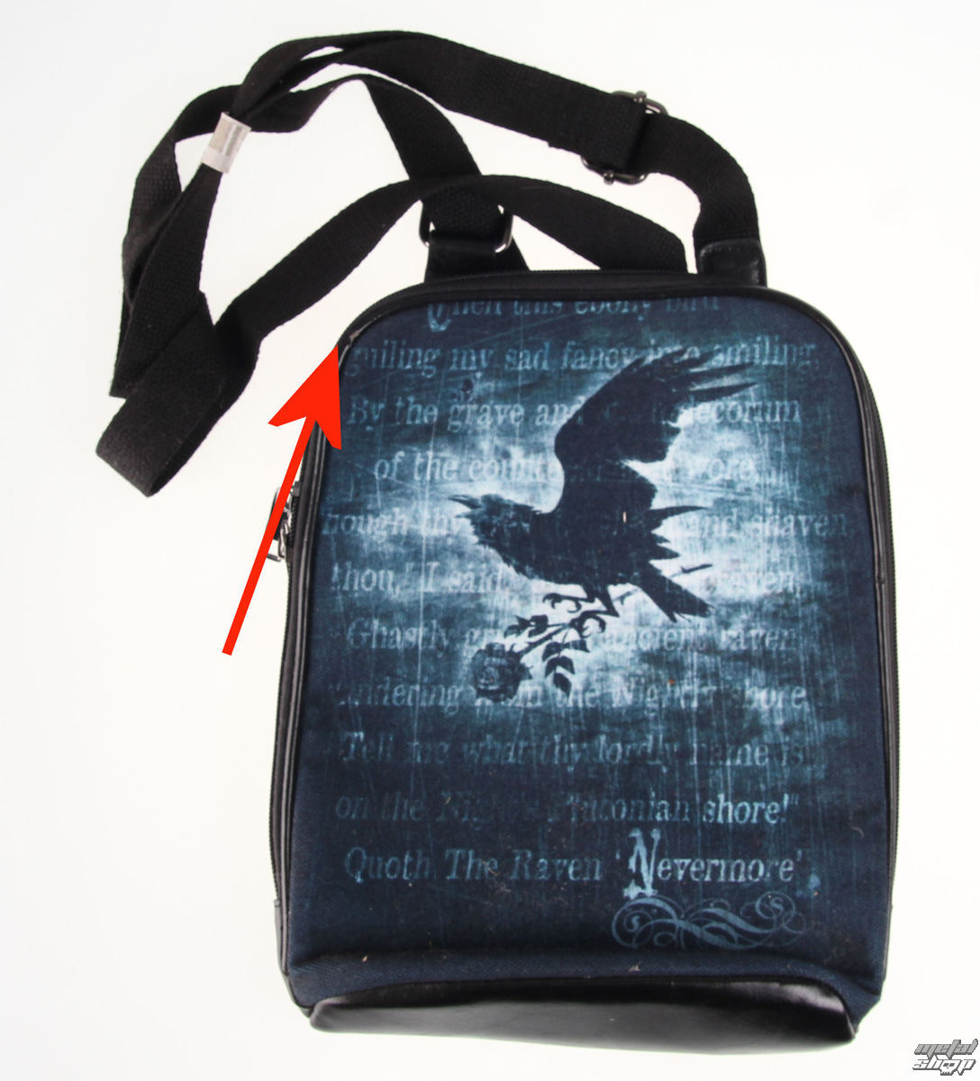taška na tablet ALCHEMY GOTHIC - Nevermore - POŠKOZENÁ - N613