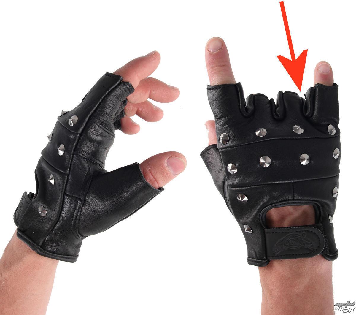 rukavice kožené OSX - DRAC - POŠKOZENÉ - NS2032
