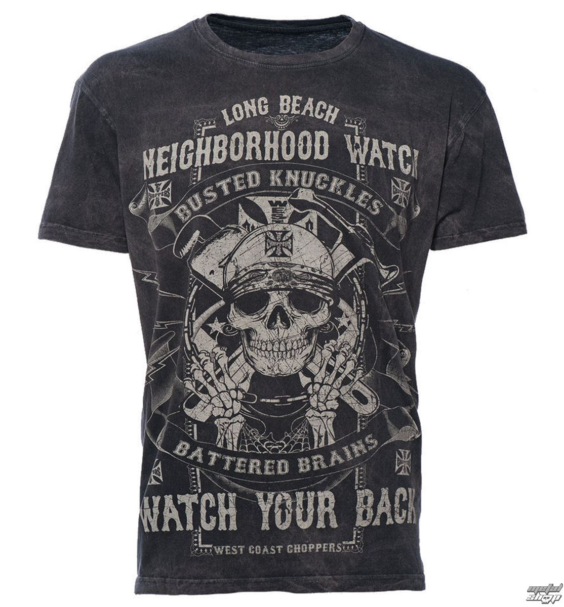 tričko pánské West Coast Choppers - WCC NEIGHBORHOOD - WATCH BLACK