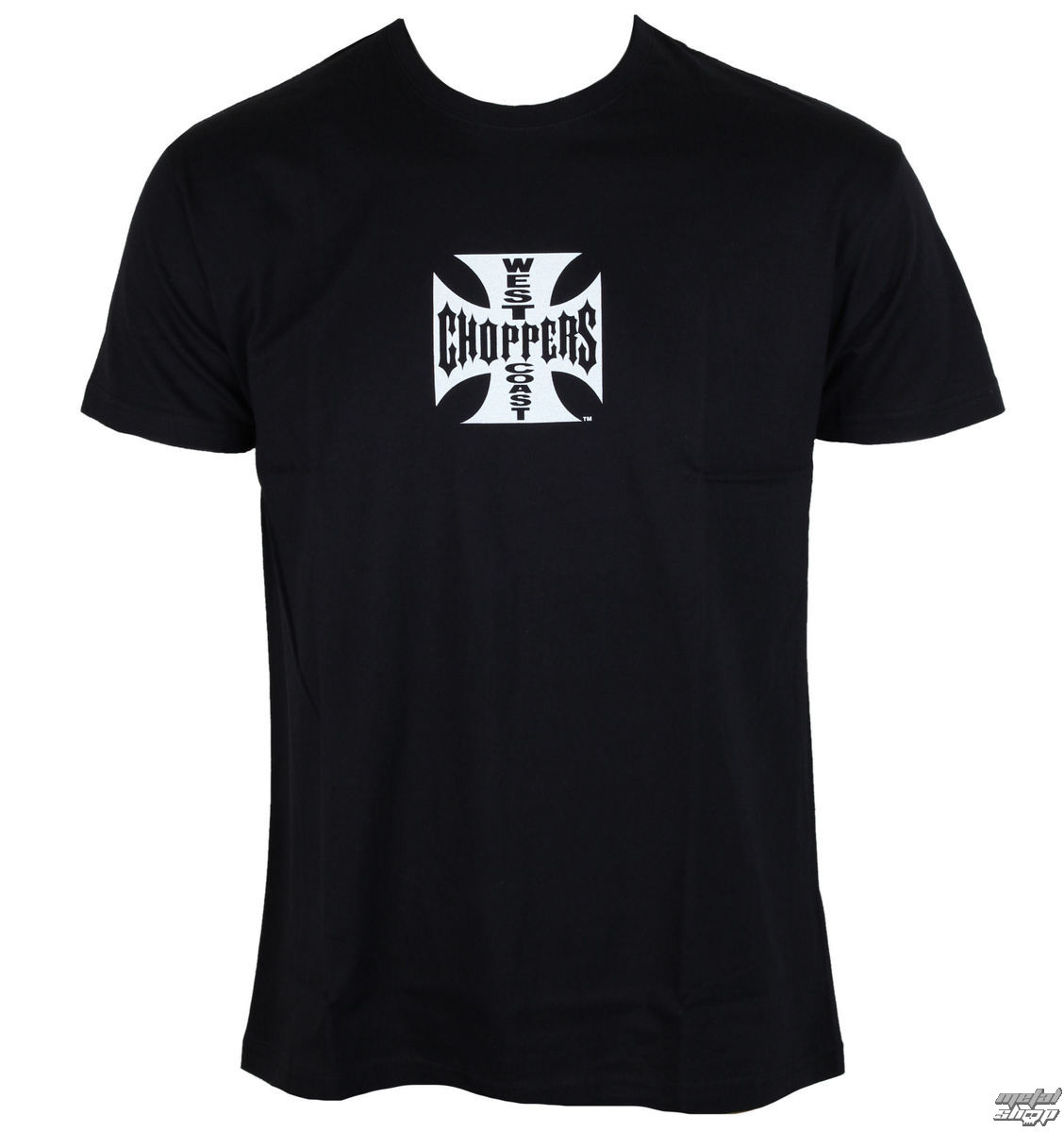 tričko West Coast Choppers Iron Cross černá 3XL
