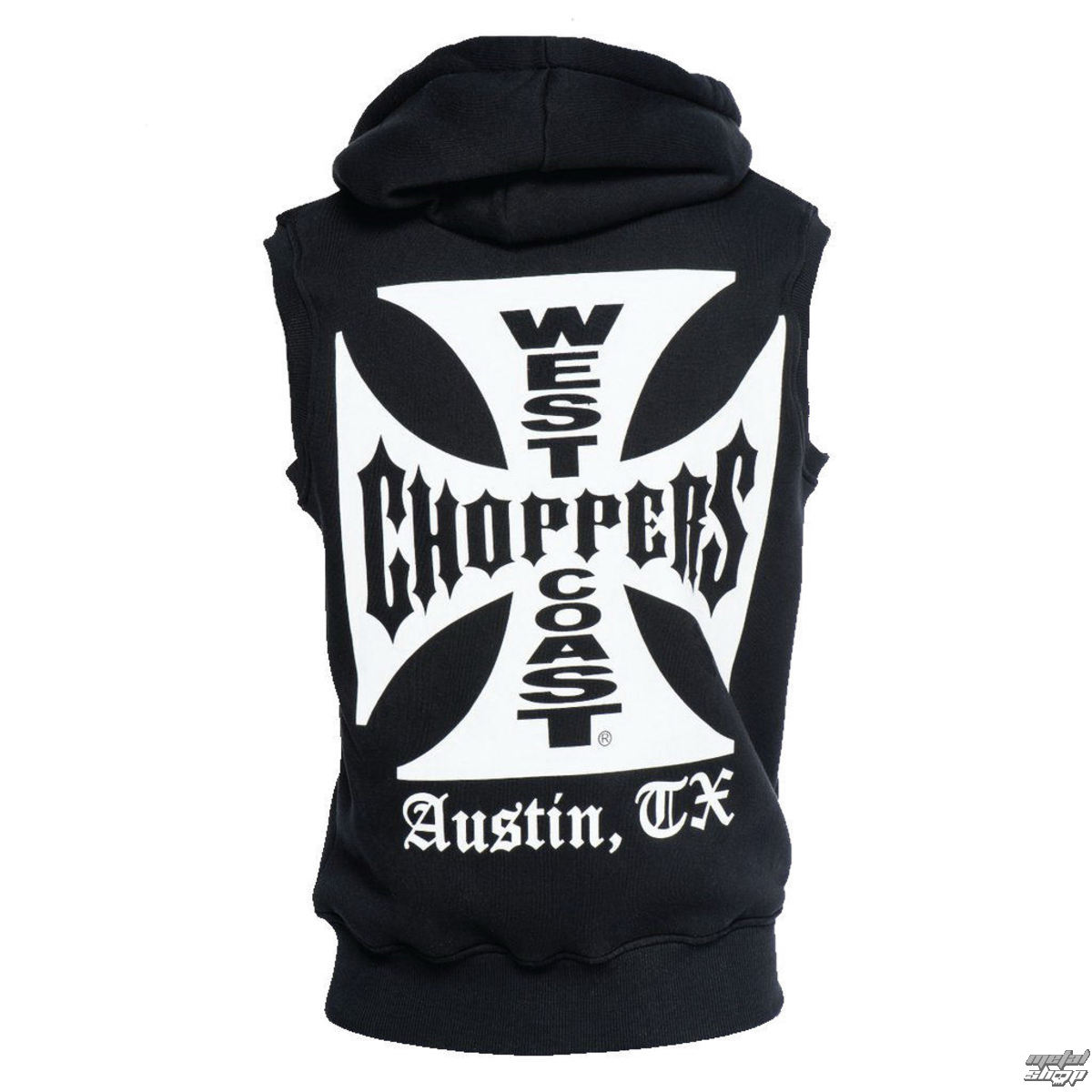 vesta West Coast Choppers IRON CROSS SLEEVELESS HOODY XXL