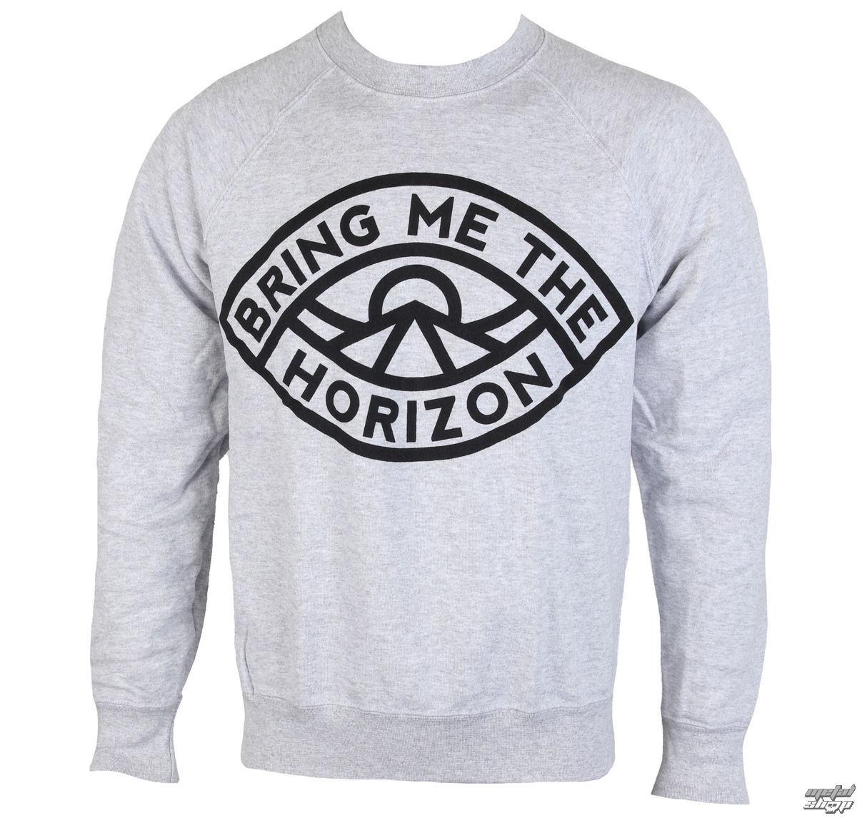 mikina pánská Bring Me The Horizon - Eye Grey - ROCK OFF - BMTHSW03MG