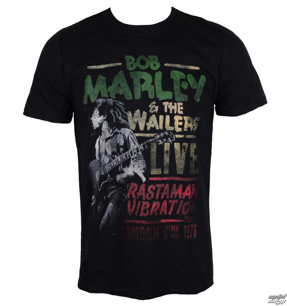 tričko pánské Bob Marley - Rastaman Vibration - ROCK OFF - BMATTRTW01MB
