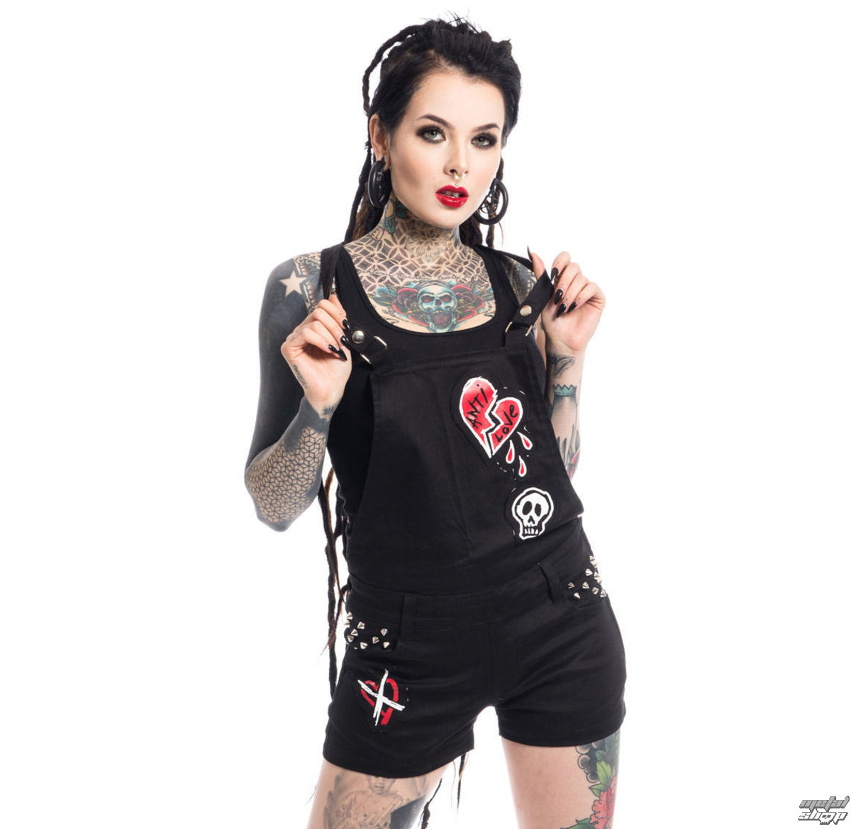 kraťasy nebo šortky HEARTLESS ANTI LOVE BIB AND BRACE M