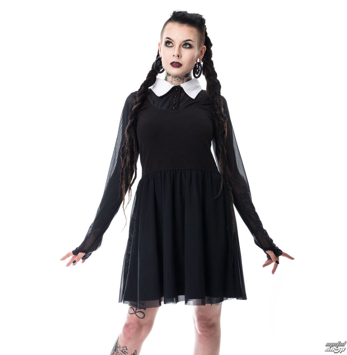 šaty dámské Heartless - WEDNESDAY - LACE - BLACK - POI359 S