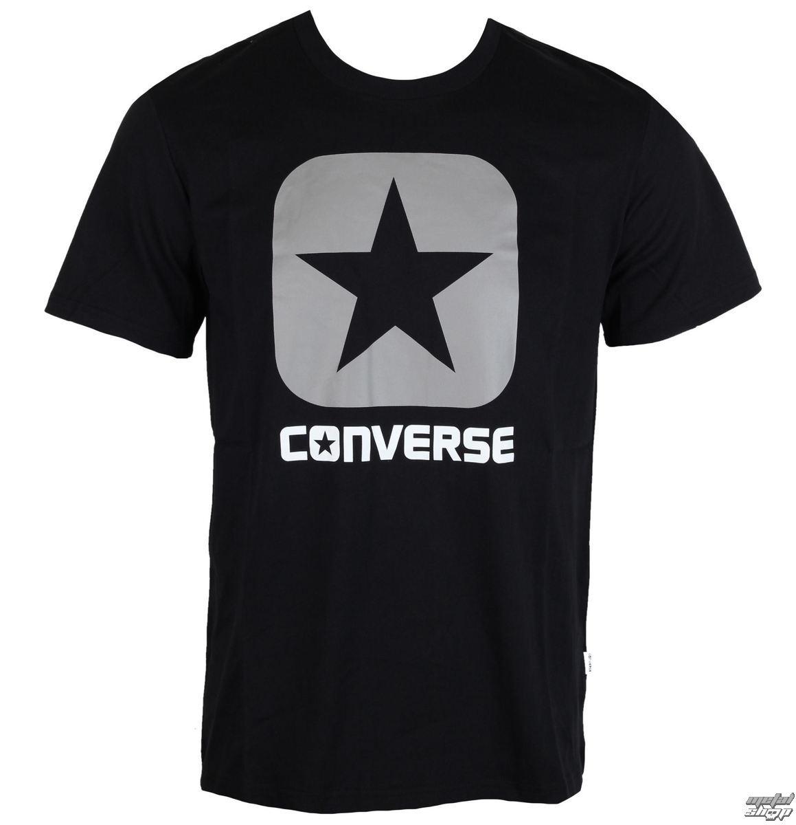tričko pánské CONVERSE - CORE BOXSTAR - Black - 10001969-A02