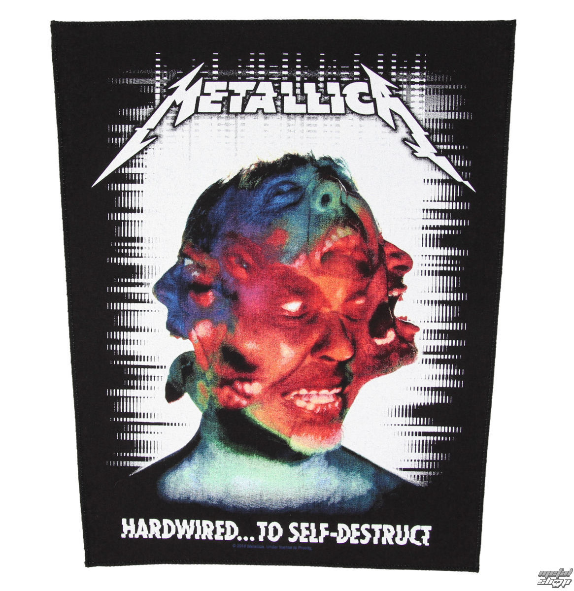 nášivka METALLICA - HARDWIRED TO SELF DESTRUCT - RAZAMATAZ