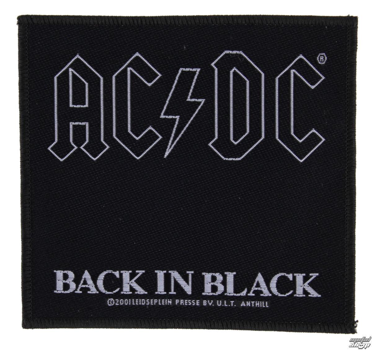 nášivka AC/DC - BACK IN BLACK - RAZAMATAZ - SP1512