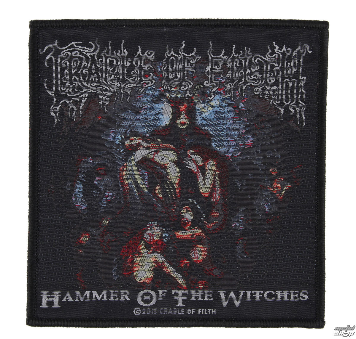 nášivka CRADLE OF FILTH - HAMMER OF THE WITCHES - RAZAMATAZ - SP2814