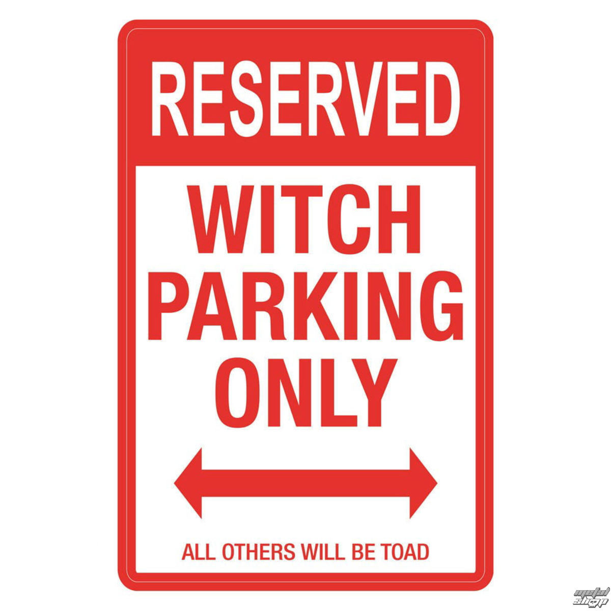 dekorace (cedule) Witch Parking