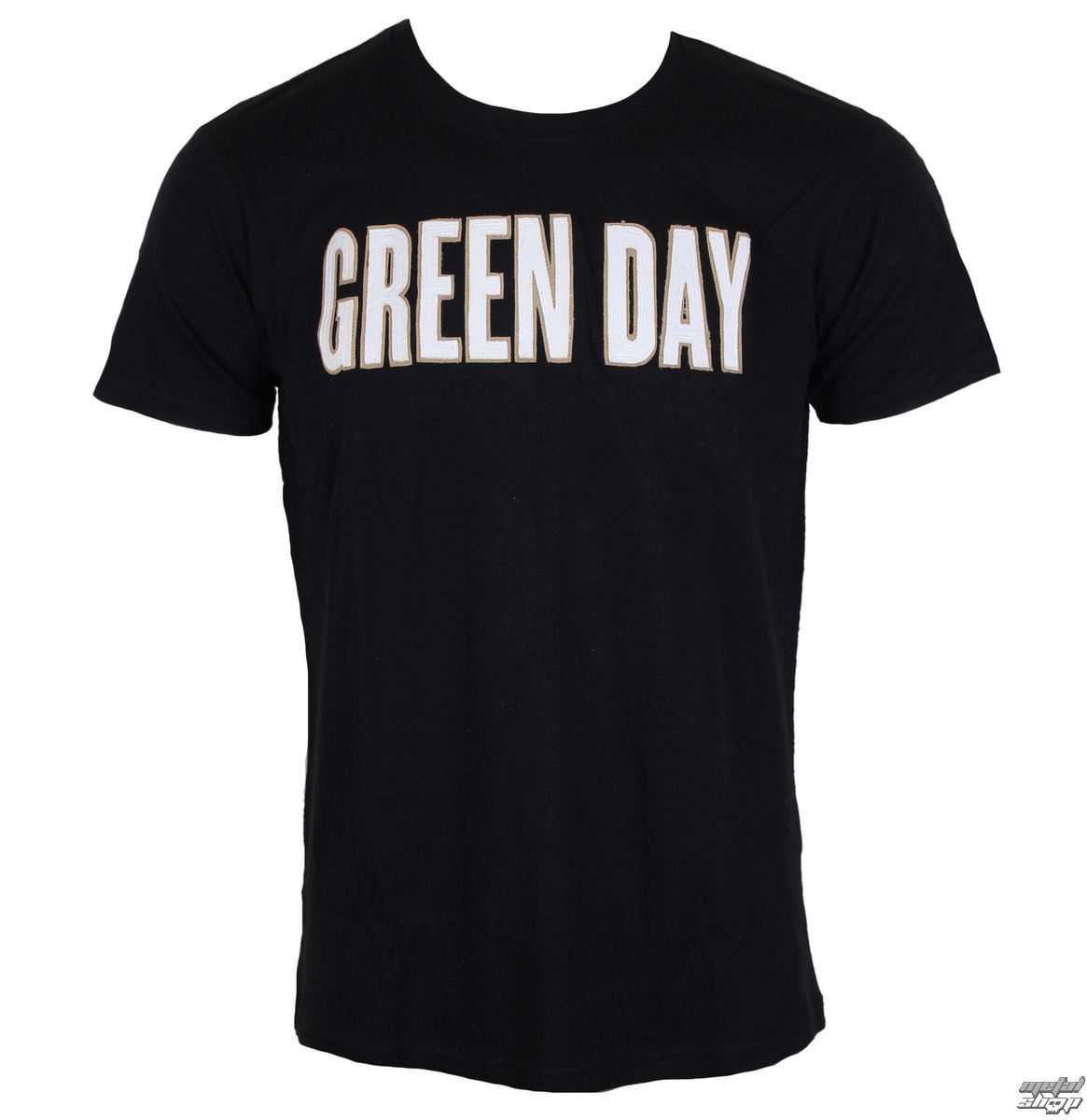 Tričko metal ROCK OFF Green Day Logo  Grenade Applique Slub černá M