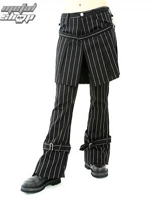 kalhoty dámské Aderlass - Skirt Pants Pin Stripe (Black-White) - A-1-13-050-01