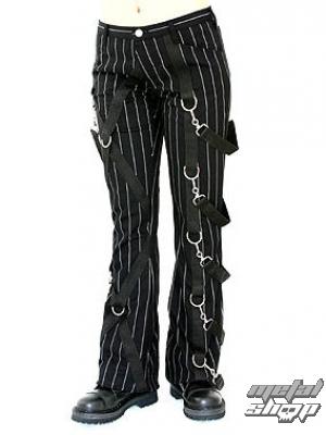 kalhoty dámské Aderlass - Cross Pants Pin Stripe (Black-White) - A-1-14-050-01