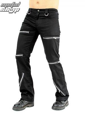 kalhoty pánské Black Pistol - Destroy Pants Denim Black - B-1-20-001-00