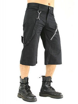 kraťasy 3/4 pánské Black Pistol - Short Pants Denim Black - B-1-46-001-00