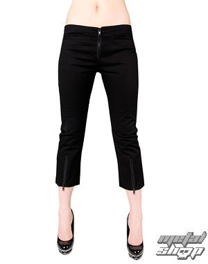 kraťasy 3/4 dámské Black Pistol - Zip Slacks Denim Black - B-1-70-001-00