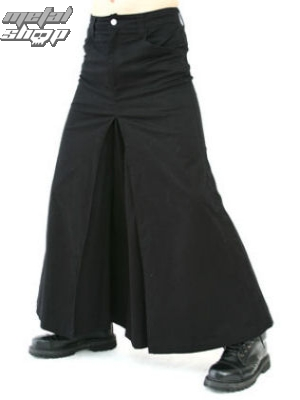kilt BLACK PISTOL Men Skirt Denim Black S