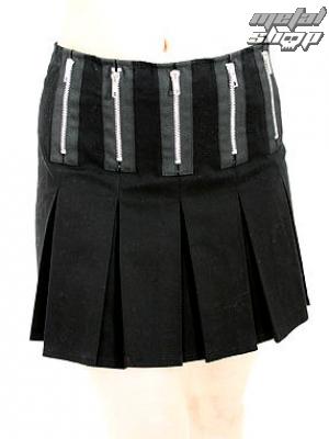 sukně dámská Black Pistol - Zipper Mini Denim (Black) - B-2-58-001-00