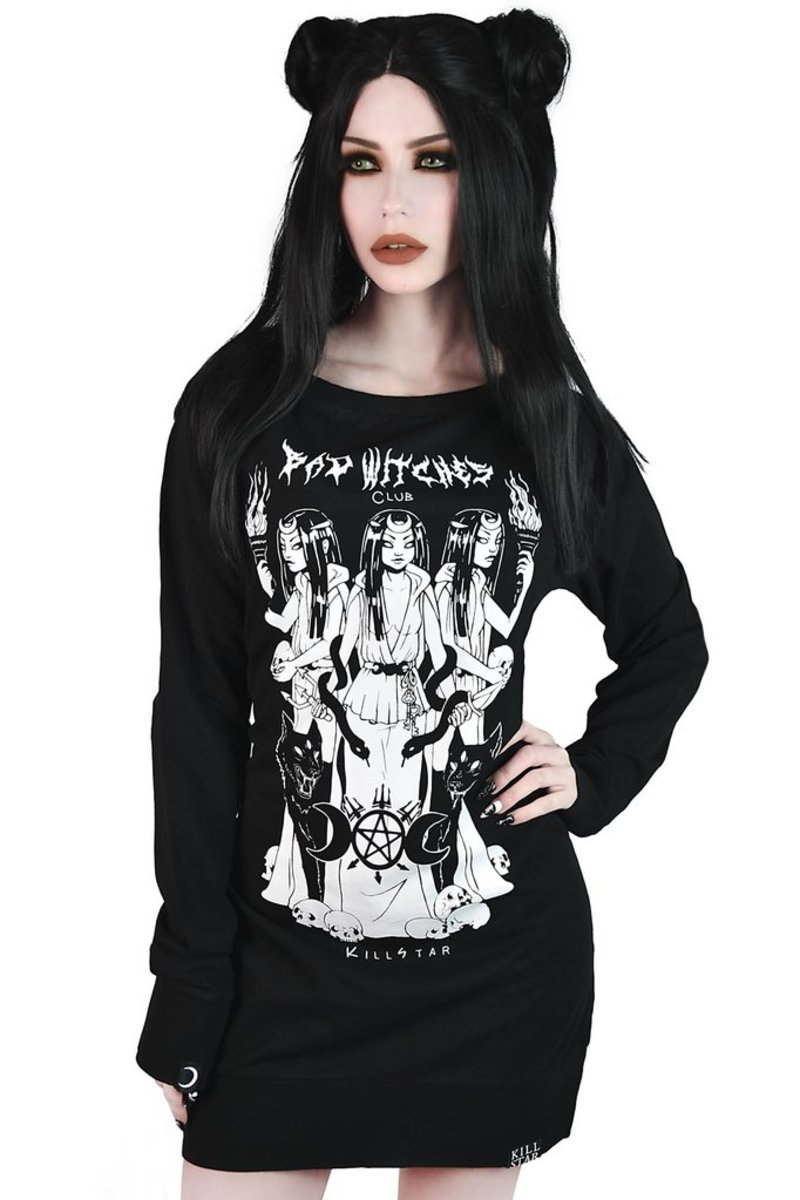 šaty KILLSTAR Bad Witches Club Sweater XS