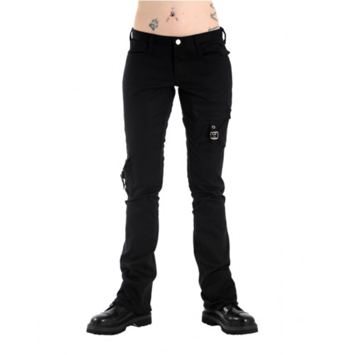 kalhoty gothic BLACK PISTOL Pocket Hipster Denim Black 40