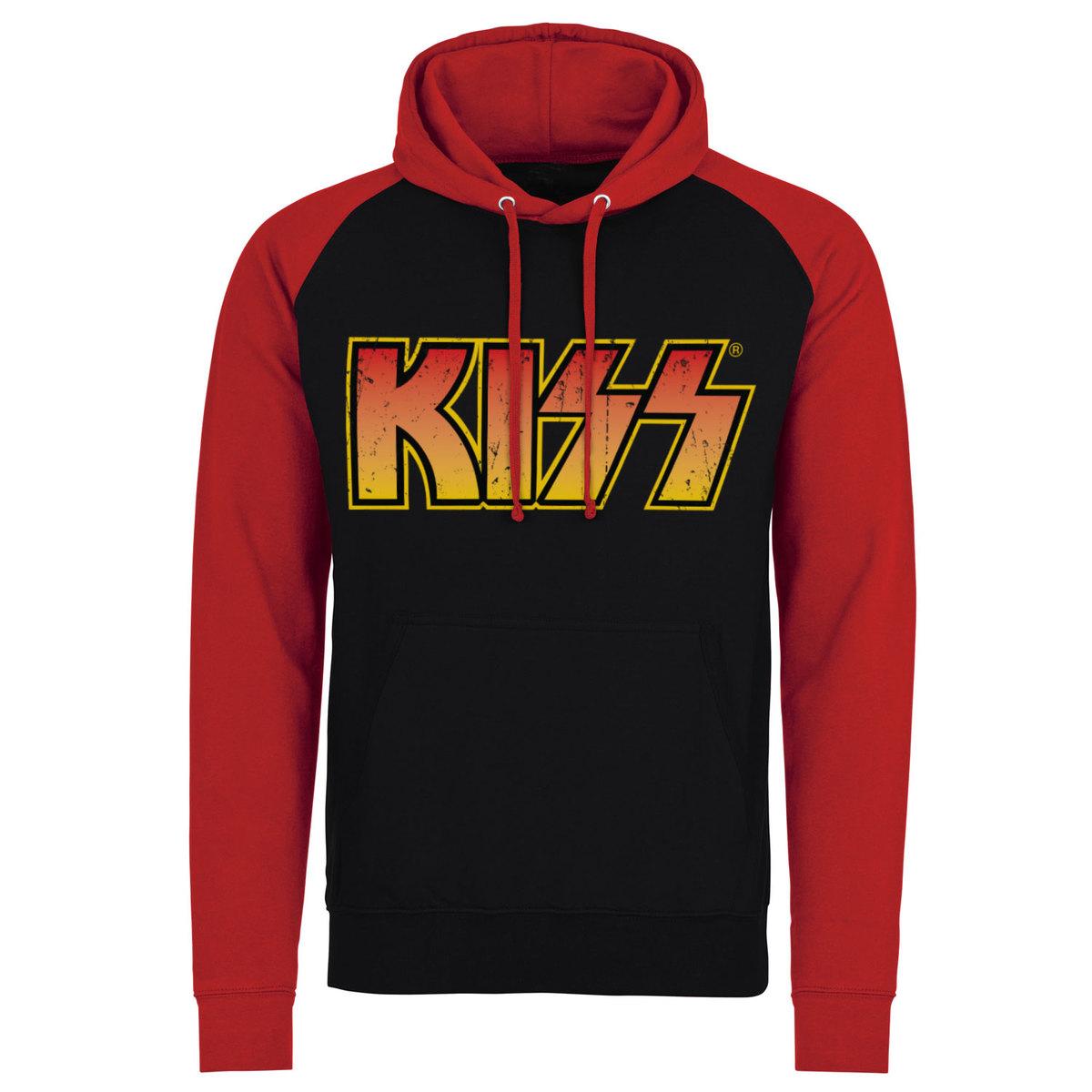 136d42810a20 mikina pánská KISS - Distressed Logotype - Black Red - HYBRIS - ER ...