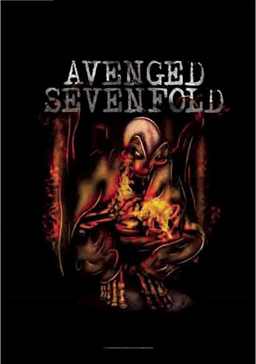HEART ROCK Avenged Sevenfold Fire Bat