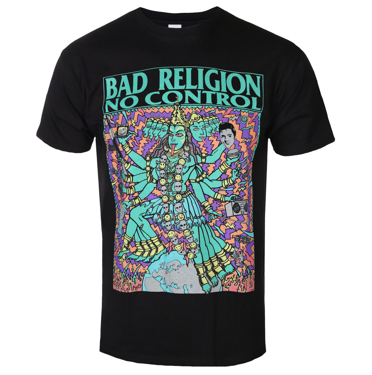 tričko metal KINGS ROAD Bad Religion No Control Kozik černá S