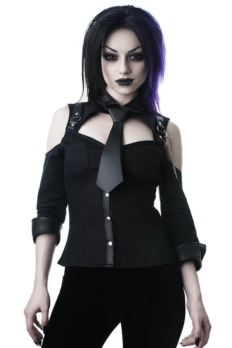 košile dámská KILLSTAR - Kalista Teachers Pet - BLACK - KSRA000387