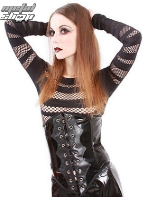 korzet dámský Lovesect - Coursage PVC Black - L-4-55-010-00 XL