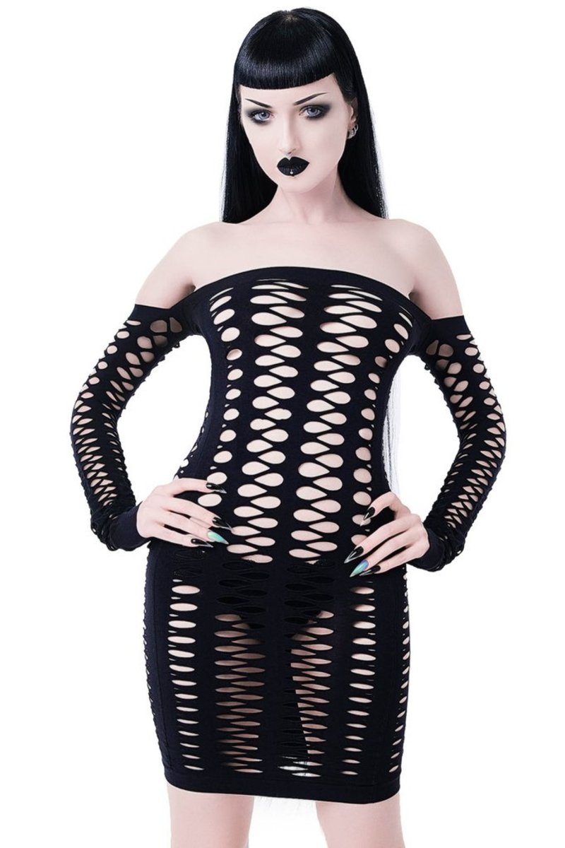 šaty KILLSTAR Lizzy Fishnet
