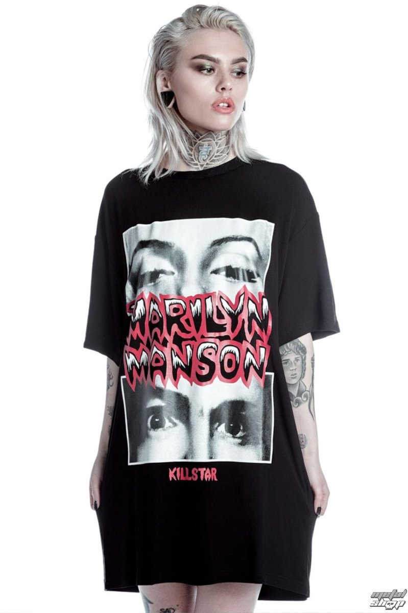 31508aae390fbb tričko dámské (tunika) KILLSTAR - MARILYN MANSON - Look Into My Eyes - Black