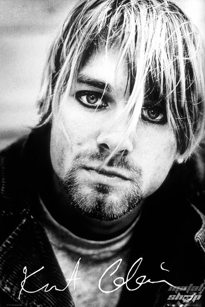 plakát Nirvana - Kurt Cobain - Signature - GB Posters - LP1627
