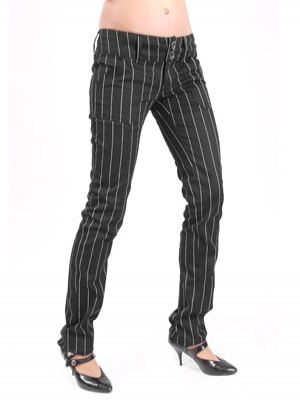 kalhoty dámské Mode Wichtig - Pretty Low-Cut Pin Stripe - M-1-07-050-01