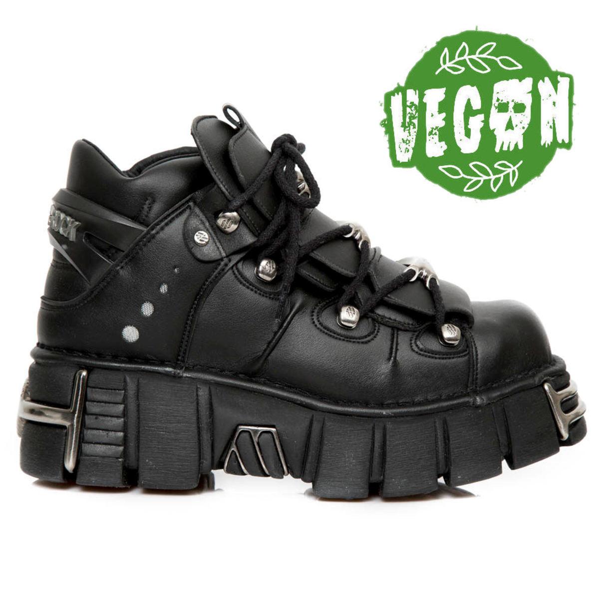 boty kožené NEW ROCK VEGAN NEGRO černá 40