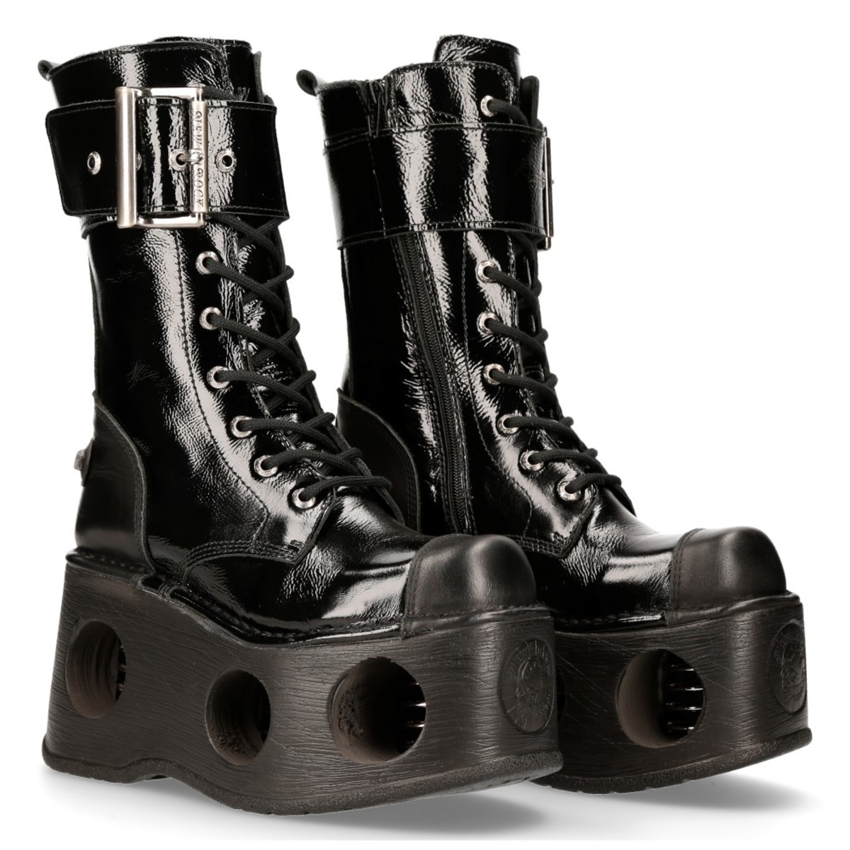 boty kožené NEW ROCK CRUST NEGRO černá 44