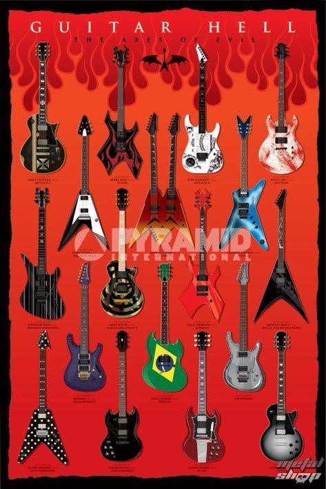 plakát Guitar Hell (The Axes Of Evil) - PYRAMID POSTERS