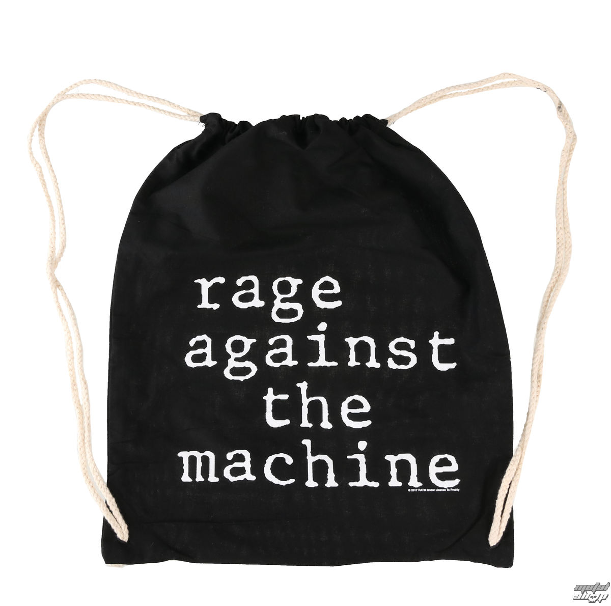vak Rage Against the Machin - Stack Logo - Black Drawstring - RTRAMSBBSTA