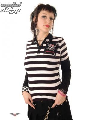 tričko dámské dlouhý rukáv QUEEN OF DARKNESS SH12-133/06