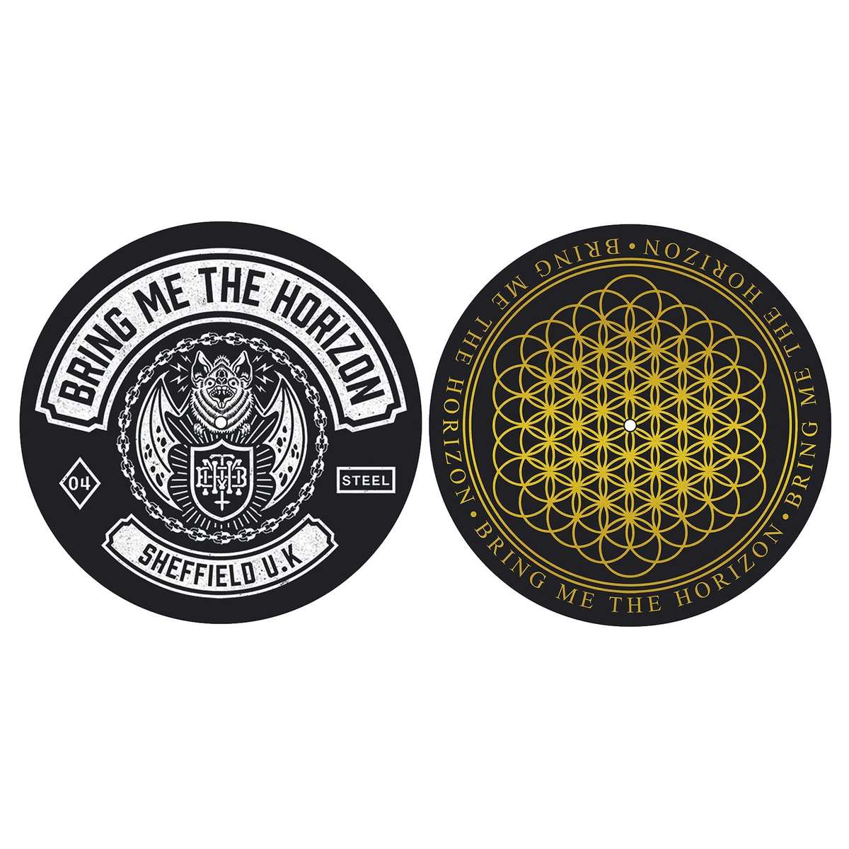 podložka na gramofon (set 2 ks) Bring Me The Horizon - Sheffield UK - RAZAMATAZ - SM020