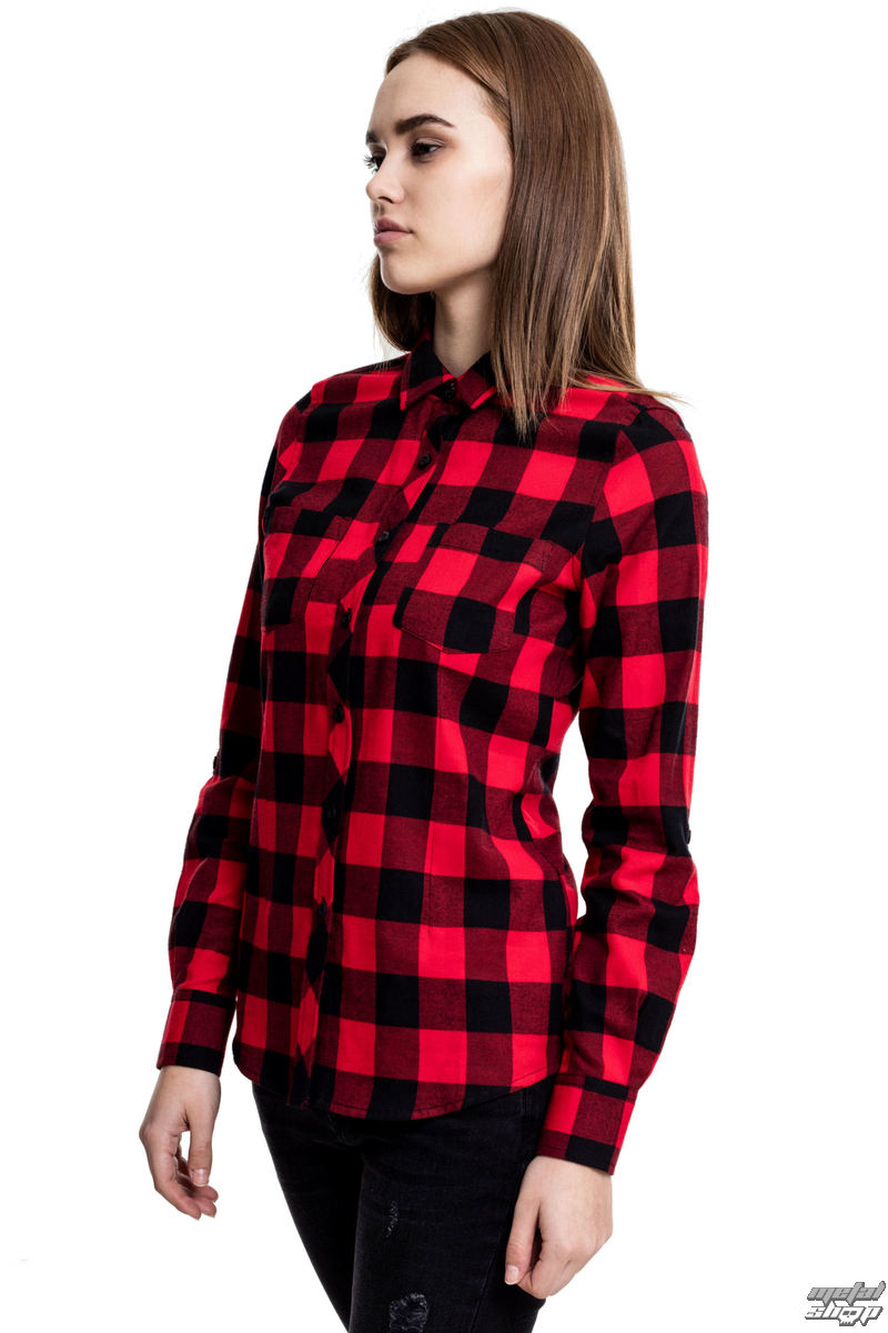 košile URBAN CLASSICS Turnup Checked Flannel M
