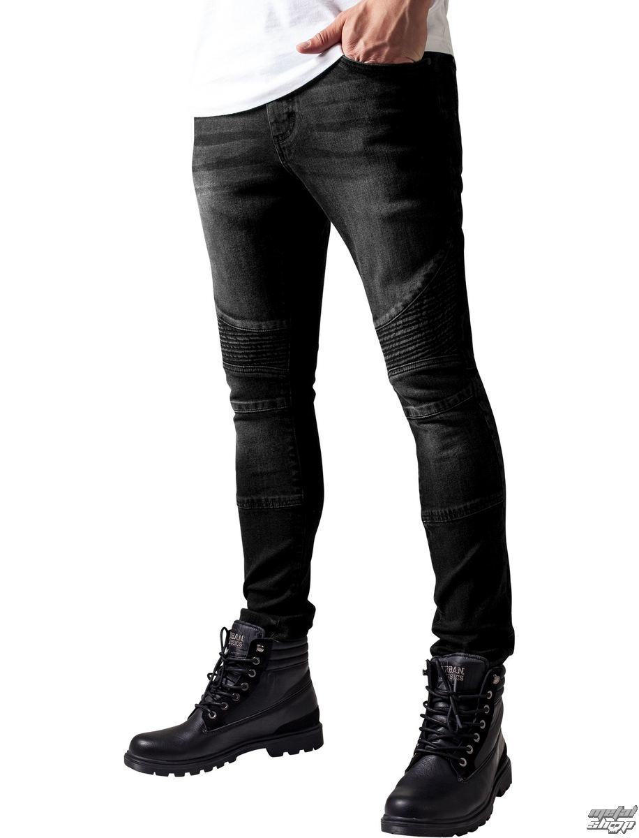 kalhoty pánské URBAN CLASSICS - Slim Fit Biker Jeans - TB1436- black ... c03df8b4d5